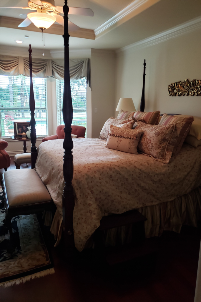 before and after master bedroom  rancho viejo interior designer 78575 78566 78586 78597 78521 78578