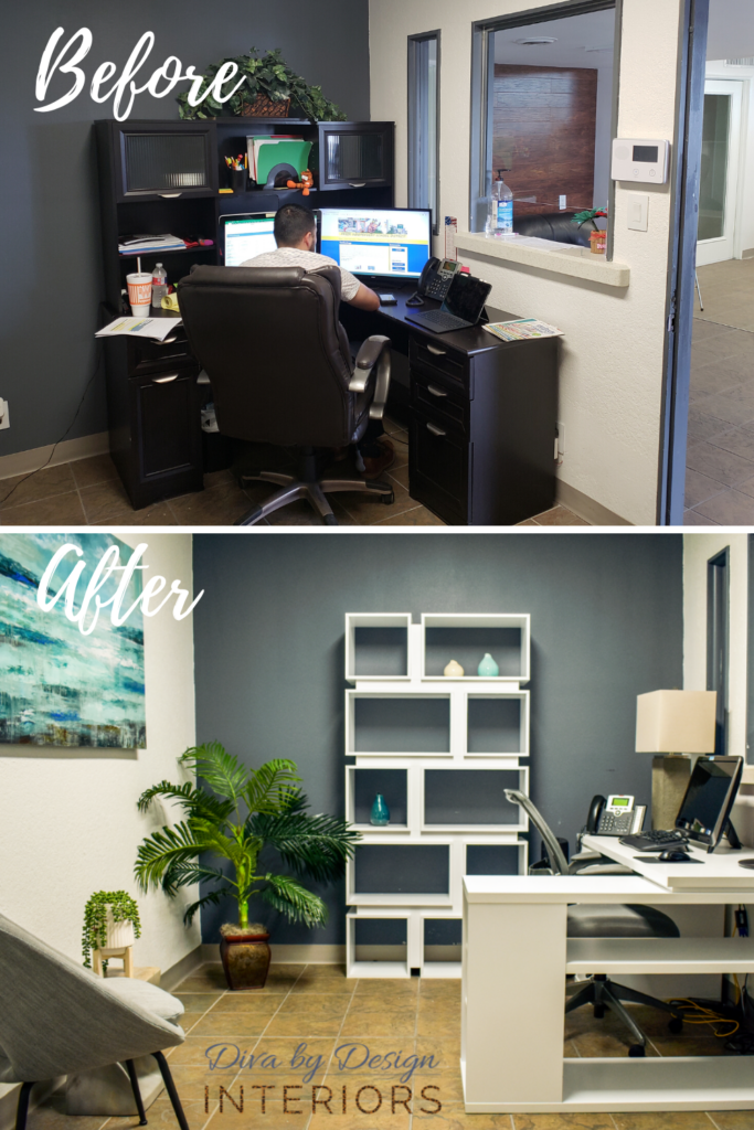 creating a zen office reception space in harlingen texas by diva by design