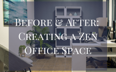 Before and After: Creating a Zen Office Space