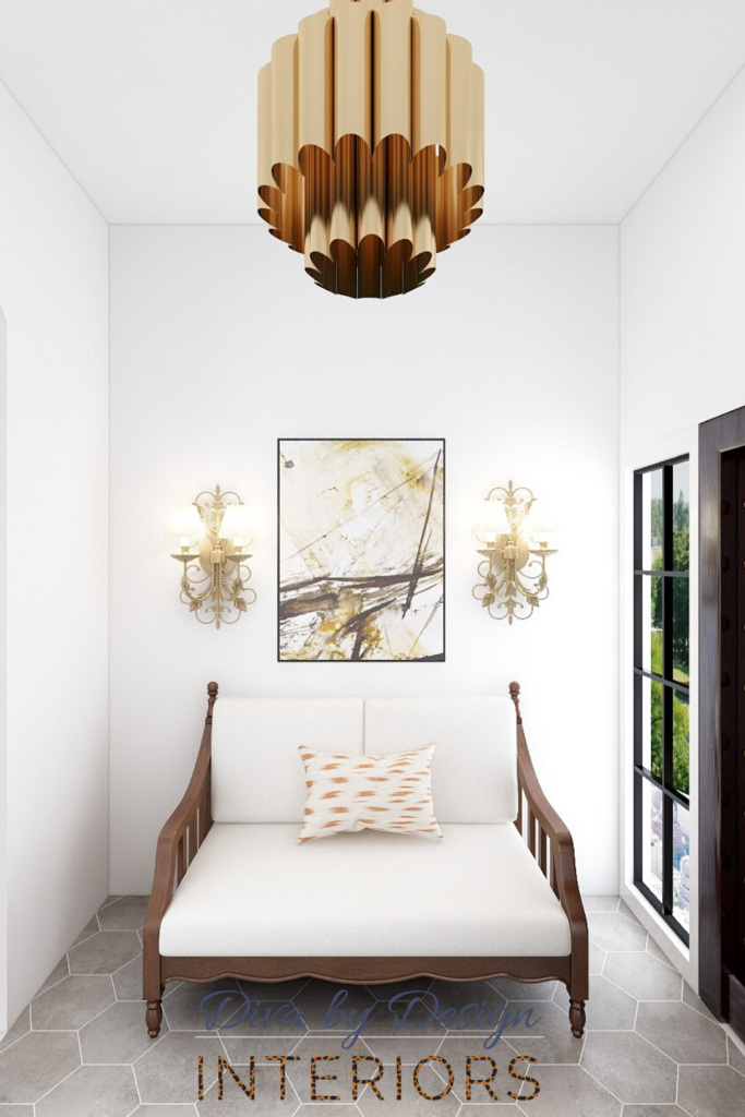 modern mediterranean entryway neutral color palette best harlingen interior designer