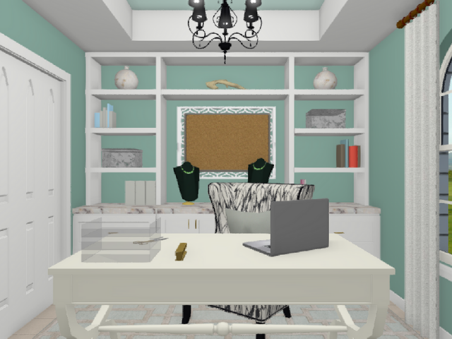 DIY Design Home Office 3D elevation from Diva by Design