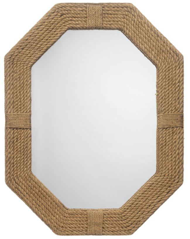 octagonal mirror with jute frame diva by design brownsville interior designer mirrors for good feng shui