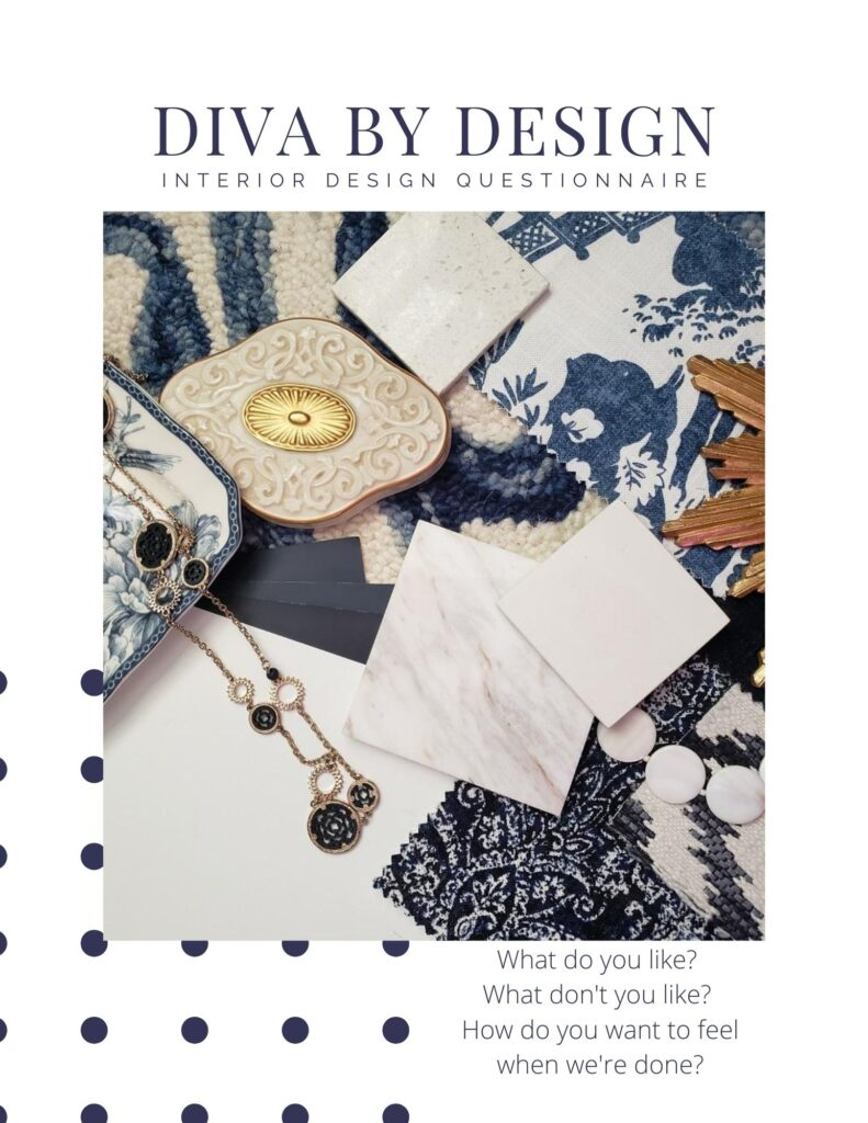 what is online design diva by design interior design questionnaire