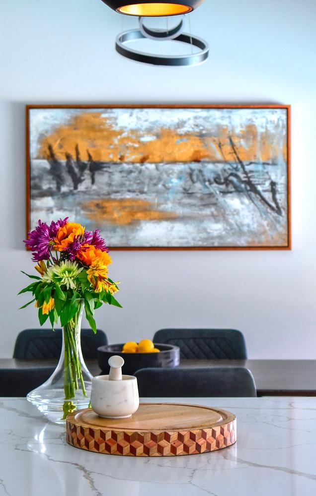 modern contemporary kitchen vignette diva by design harlingen interior designer