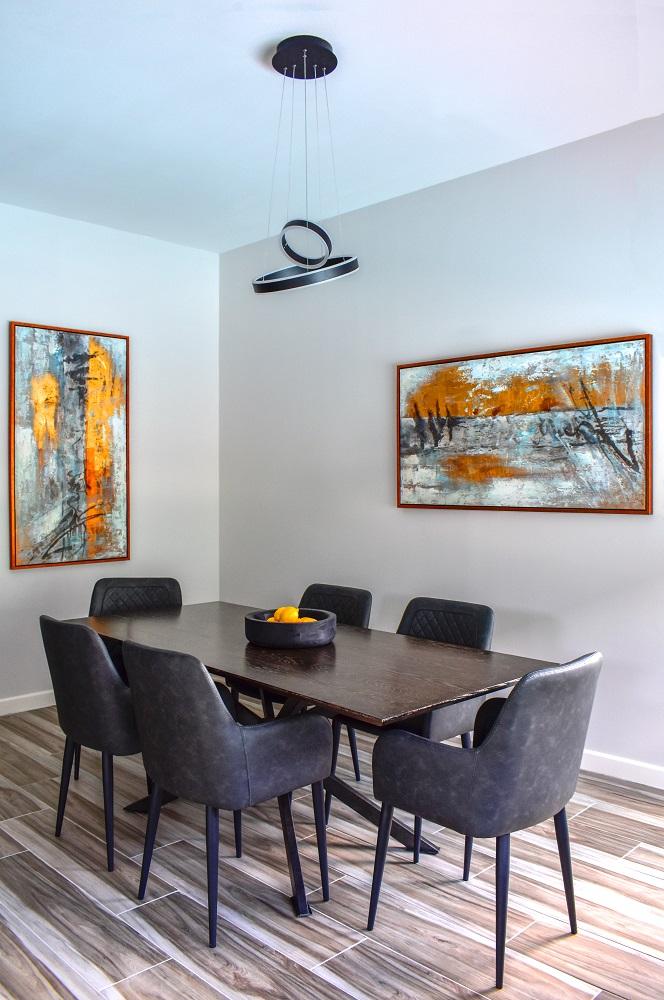 modern contemporary dining area diva by design harlingen interior designer