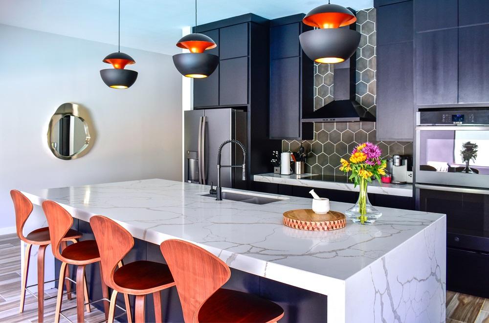 modern contemporary kitchen island diva by design harlingen interior designer