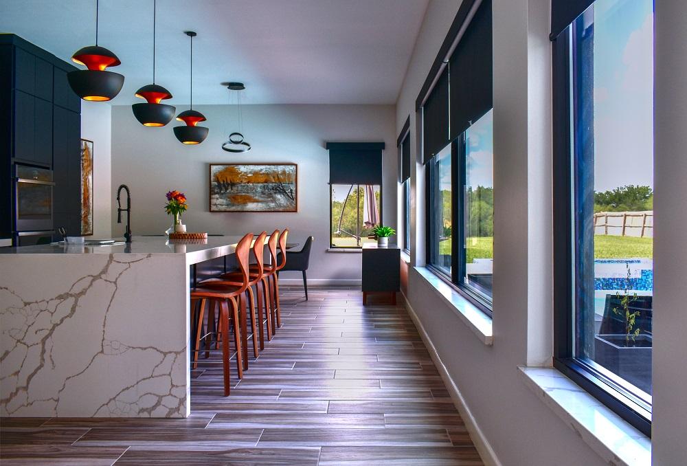 modern contemporary tuxedo kitchen diva by design harlingen interior designer
