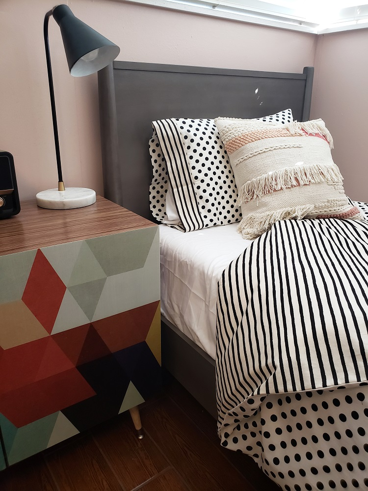 teen girl mcm bedroom decor custom bedding diva by design harlingen interior designer