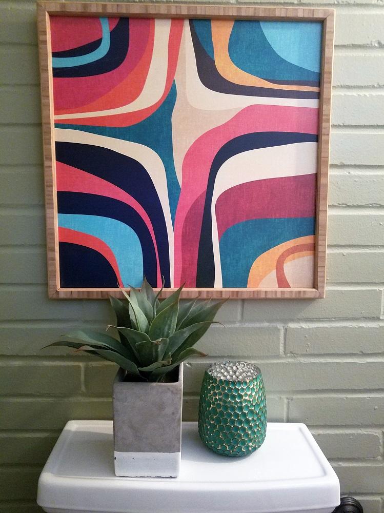 mcm powder room wall decor ideas diva by design harlingen interior designer